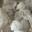 Los Apóstoles ven a la Virgen Marie montar al cielo