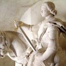 Estatua de San Martín (nave) ; restauración Dom Adolphe Le Méhauté