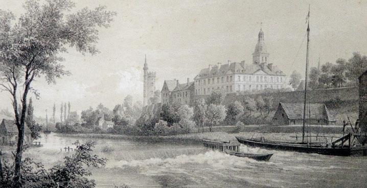 Un grabado de Solesmes hacia 1850